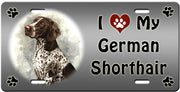I Love My German Shorthaired Pointer License Plate