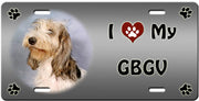 I Love My Grand Basset Griffon Vendeen License Plate