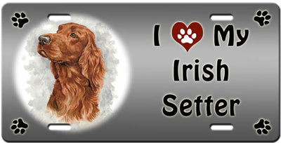 I Love My Irish Setter License Plate