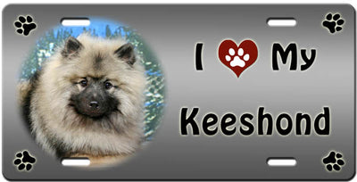 I Love My Keeshond License Plate