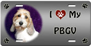 I Love My Petit Basset Griffon Vendeen License Plate