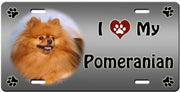 I Love My Pomeranian License Plate