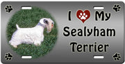 I Love My Sealyham Terrier License Plate