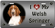 I Love My Welsh Springer Spaniel License Plate
