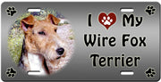 I Love My Wire Fox Terrier License Plate