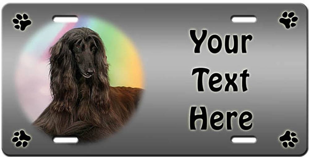 Personalized Afghan Hound License Plate