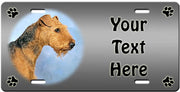 Personalized Airedale Terrier License Plate