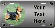 Personalized Australian Terrier License Plate