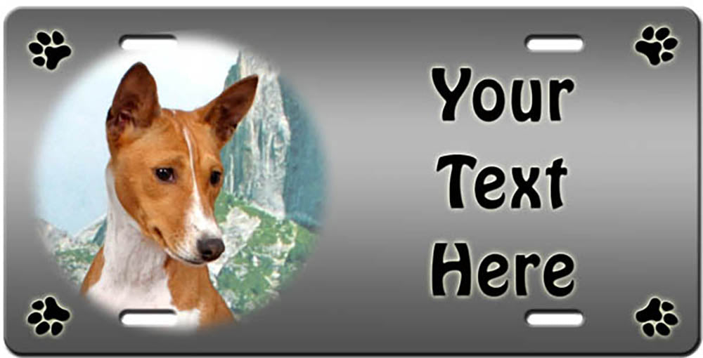 Personalized Basenji License Plate