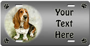 Personalized Basset Hound License Plate