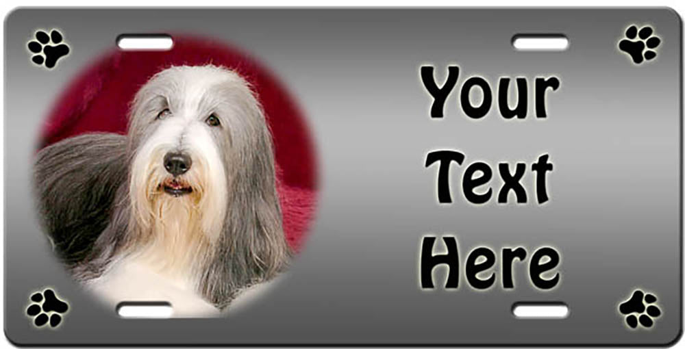 Personalized Bearded Collie License Plate