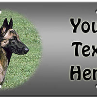 Personalized Belgian Malinois License Plate