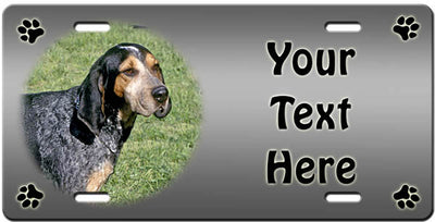 Personalized Bluetick Coonhound License Plate