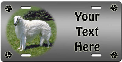 Personalized Borzoi License Plate