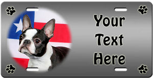 Personalized Boston Terrier License Plate