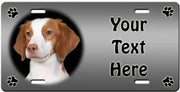 Personalized Brittany Spaniel License Plate
