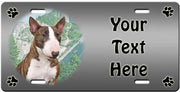 Personalized Bull Terrier License Plate