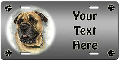 Personalized Bullmastiff License Plate
