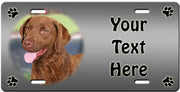 Personalized Chesapeake Bay Retriever License Plate