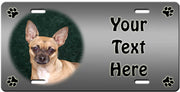 Personalized Chihuahua - Smooth License Plate
