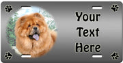 Personalized Chow Chow License Plate