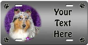Personalized Collie Rough License Plate