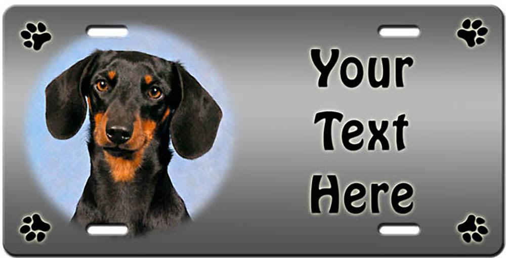 Personalized Dachshund - Smooth License Plate