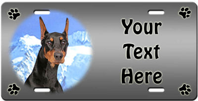 Personalized Doberman Pinscher License Plate