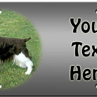 Personalized English Springer Spaniel License Plate