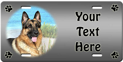 Personalized German Shepherd License Plate
