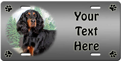 Personalized Gordon Setter License Plate