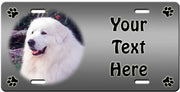 Personalized Great Pyrenees License Plate