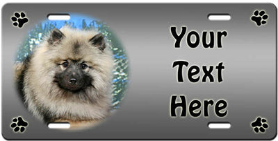 Personalized Keeshond License Plate