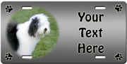 Personalized Old English Sheepdog License Plate