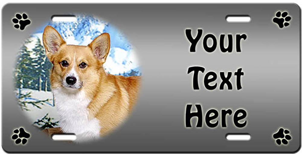 Personalized Pembroke Welsh Corgi License Plate