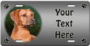 Personalized Rhodesian Ridgeback License Plate