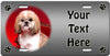 Personalized Shih Tzu License Plate