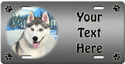 Personalized Siberian Husky License Plate