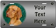 Personalized Vizsla License Plate