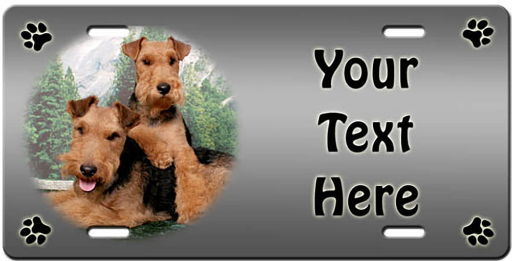 Personalized Welsh Terrier License Plate