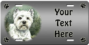 Personalized West Highland White Terrier License Plate