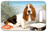 Basset Hound Luggage Tag