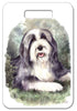 Bearded Collie Luggage Tag