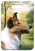 Collie Smooth Luggage Tag