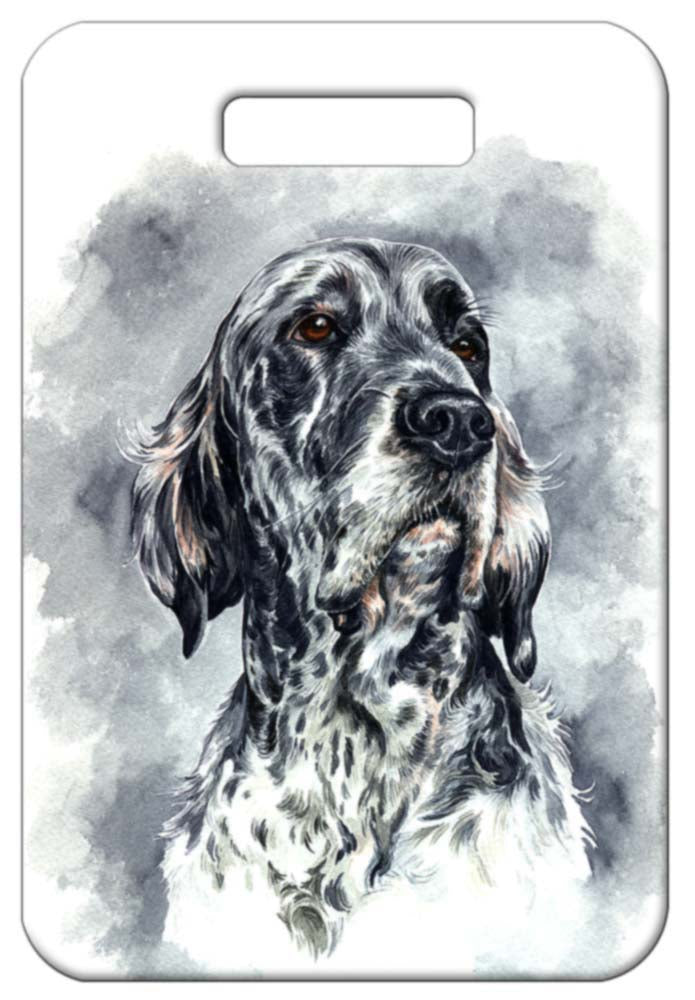 English Setter Luggage Tag