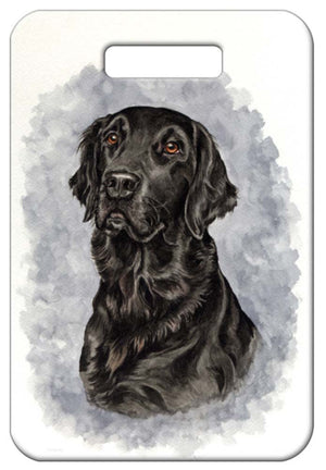 Flat Coated Retriever Luggage Tag