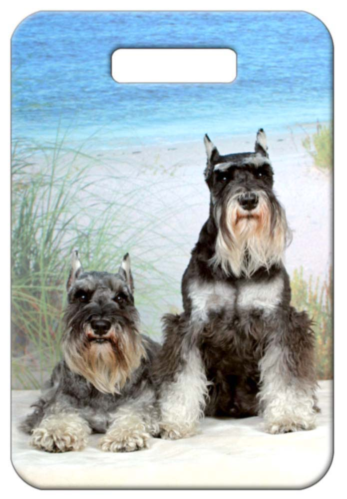 Miniature Schnauzer Luggage Tag