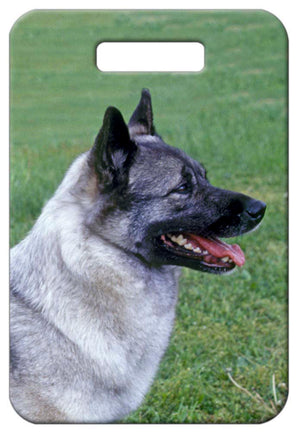 Norwegian Elkhound Luggage Tag