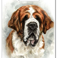 Saint Bernard Luggage Tag