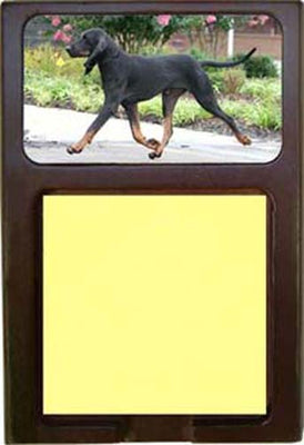 Black & Tan Coonhound Note Holder